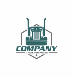 Trailer truck logo vector