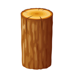 tree wooden stump with rings cut trees isolated vector image