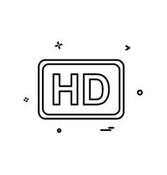 video quality icon design vector image