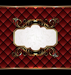 Vintage aristocratic emblem grand background vector image
