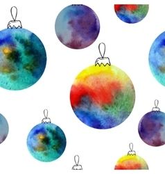 Watercolor balls seamless pattern With hand vector