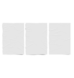 White badly glued paper texture wet wrinkled vector