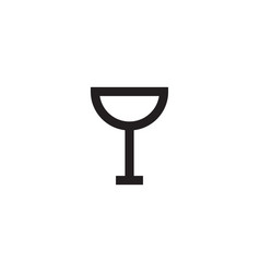 wine icon design template isolated vector image
