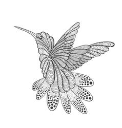 Zentangle stylized hummingbird vector image