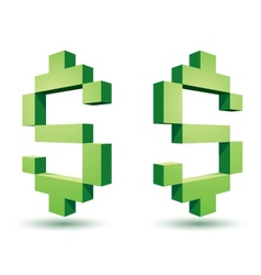 Dollar icons vector image vector image