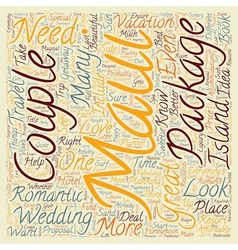 Maui For Couples text background wordcloud concept vector image vector image