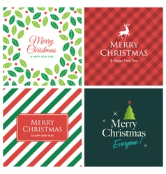 Set christmas card square vector