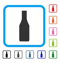 beer bottle framed icon vector image