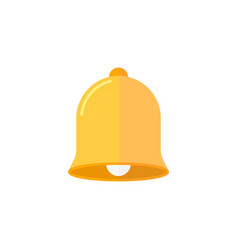 bell flat icon education and school element vector image