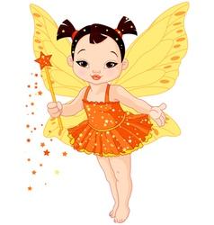 Cute Asian baby fairy vector image vector image