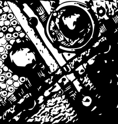 black-and-white abstraction vector image vector image