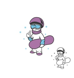 boy snowboarder vector image