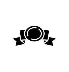 ribbon 2 corners with award icon vector image vector image