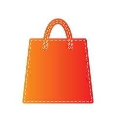 Shopping bag Orange applique vector image