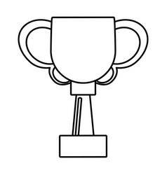 trophy ball winner award outline vector image