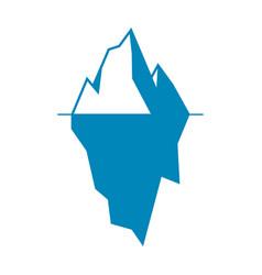 iceberg icon isolated on white background vector image vector image