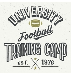 University football training camp t-shirt vector image vector image