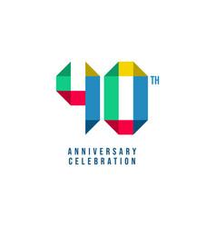 40 th anniversary celebration template design vector