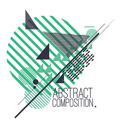 Abstract composition with simple geometric figures vector