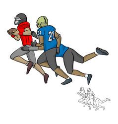 american football players tackling vector image
