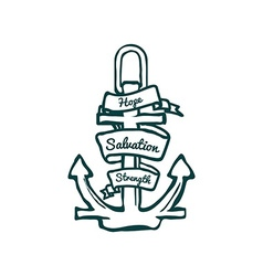Anchor with Banner vector