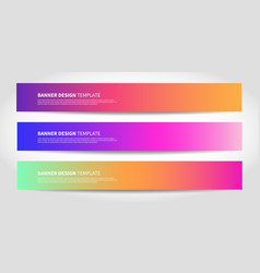 banners with abstract background colorful vector image