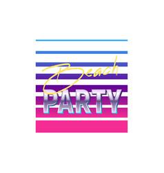 Beach party icon vector