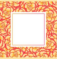 begonia flower picotee sunburst banner card vector image