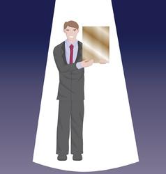 Businessman award vector