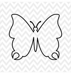 butterfly isolated design vector image