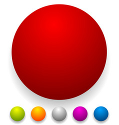 button badge shapes backgrounds in several colors vector image