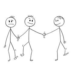 cartoon homosexual couple two gay men vector image