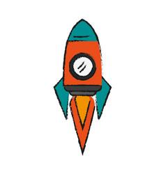 cartoon spacecraft ship vector image