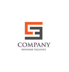 Ceec se letter business logo concept vector