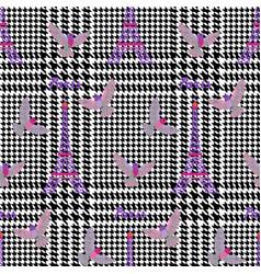 check fashion paris seamless pattern vector image