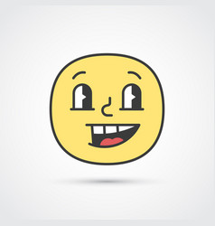 cheerful emoji face with big eyes eps10 vector image