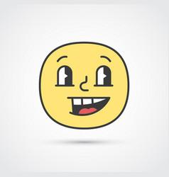 Cheerful emoji face with big eyes eps10 vector