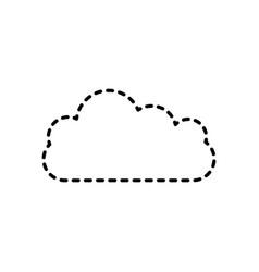 cloud computing storage data network vector image