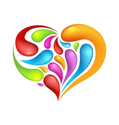 Colourful abstract icon heart vector