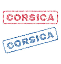 Corsica textile stamps vector