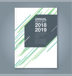 cover annual report 746 vector image