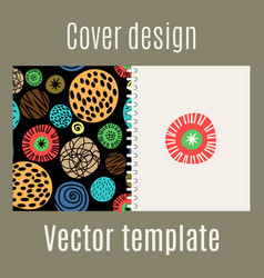 Cover design with polka dots pattern vector