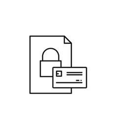 credit card key icon marketing icon thin line vector image