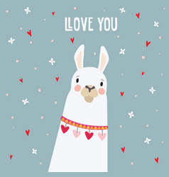 cute birthday or valentines day greeting card vector image