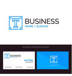 Designer font path program text blue business vector