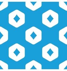 Diamonds hexagon pattern vector