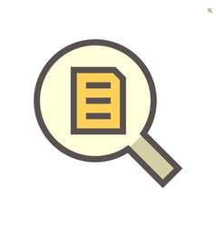 Document search icon set design 48x48 pixel vector