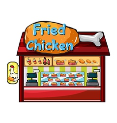 fast food restaurant vector image