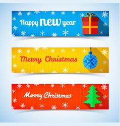 festive winter horizontal banners vector image