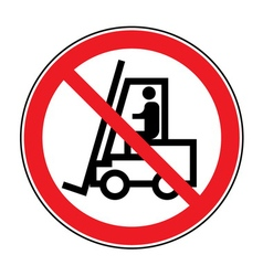 Forklift truck no sign vector